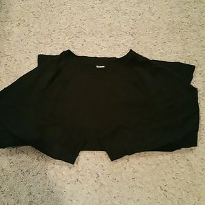 Black high/low sweatshirt
